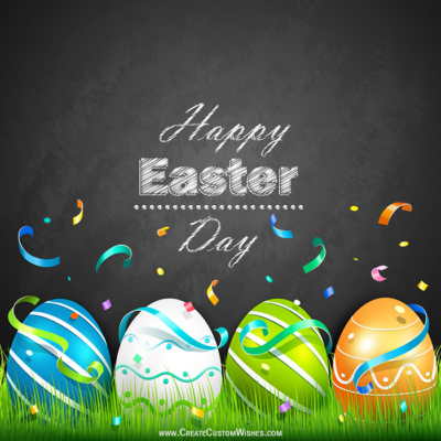 Make Happy Easter Day Image with Name
