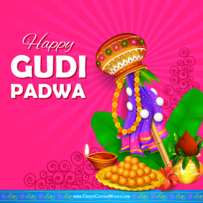 Make Happy Gudi Padwa Image with Name