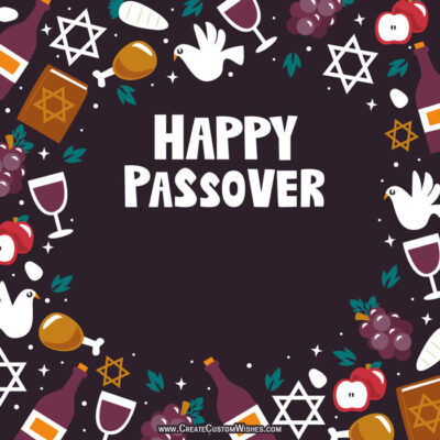 Online Editable Passover Greeting Card