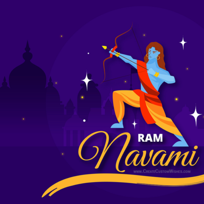 Online Editable Ram Navami Wishes Card