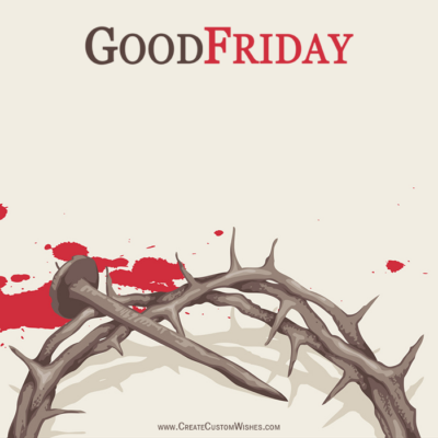 Personalized Good Friday Wishes Image