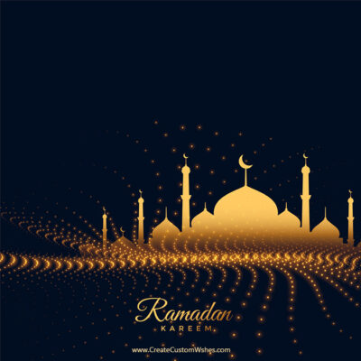 Add Name & Photos Ramadan Kareem eCard