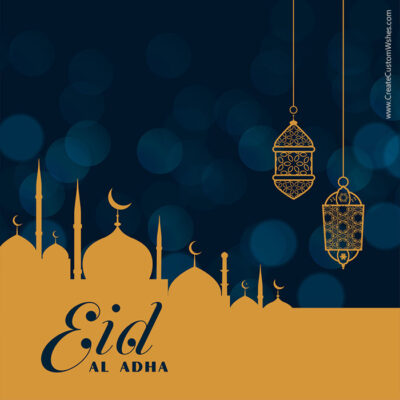 Add Name on Eid al-Adha Mubarak Pic