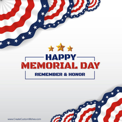 Add Name on Happy Memorial Day Pic