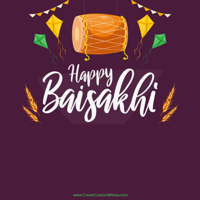 Create Custom Baisakhi Image with Name