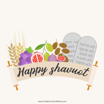 Create Happy Shavuot Image with Name