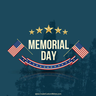 Create Memorial Day Image with Name