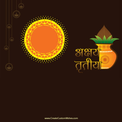 Editable Akshaya Tritiya Greeting Card