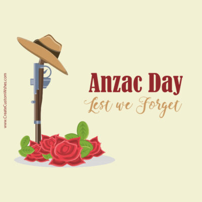 Editable Anzac Day Wishes Card