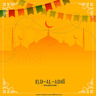 Editable Eid al-Adha Greeting Cards
