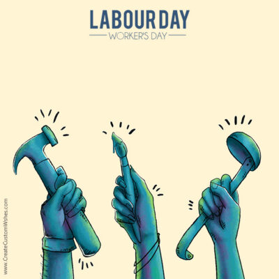 Editable Happy Labour Day Card