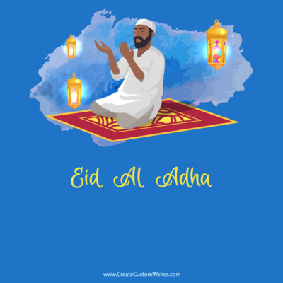 Eid ul-Adha Mubarak Image with Name