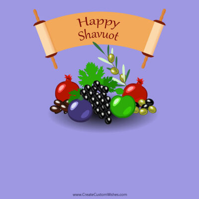 Free Add Name & Photo on Shavuot Pic