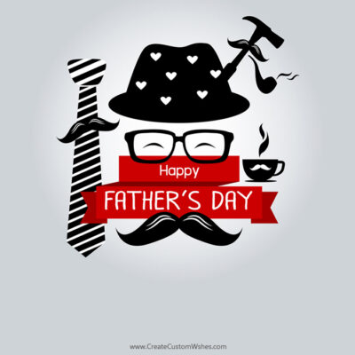 Happy Fathers Day Image with Name