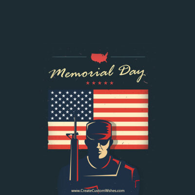 Happy Memorial Day Greeting with Name