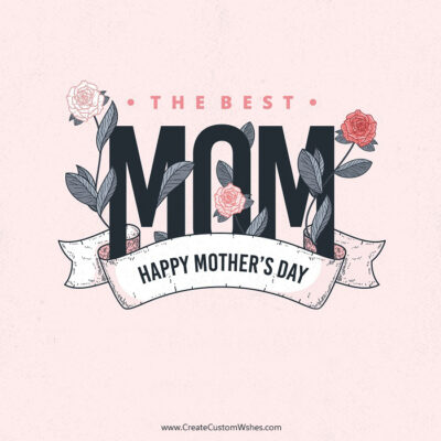Happy Mother's Day Greeting with Name