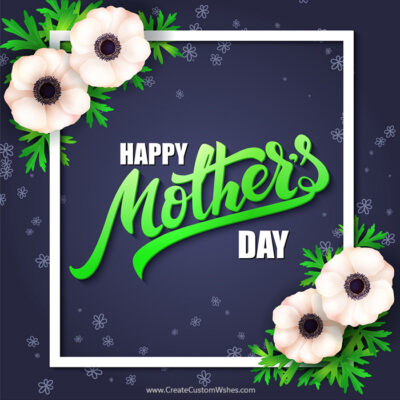 Happy Mother's Day Image with Name