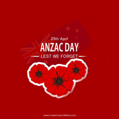 Make Anzac Day Image with Name