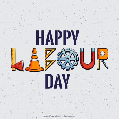 Make Labour Day Image with Name