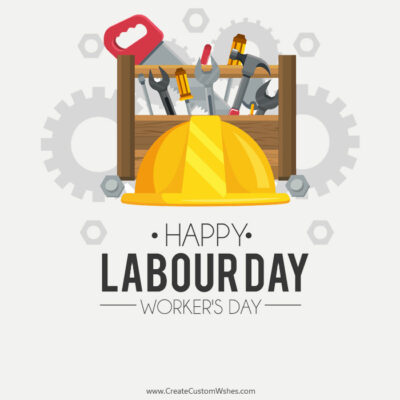 World Workers Day Image with Name