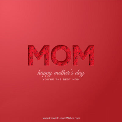 Write Name on Happy Mothers Day Pic