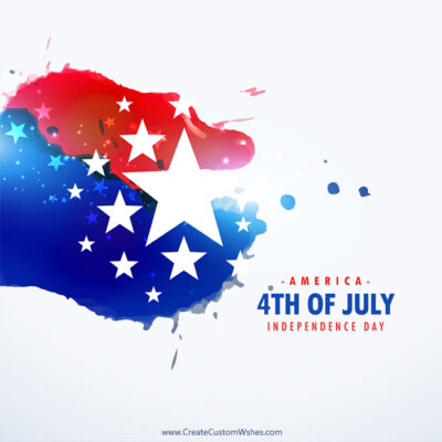 Editable 4th of July Wishes eCard