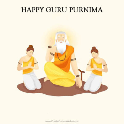 Editable Guru Purnima Wishes Card