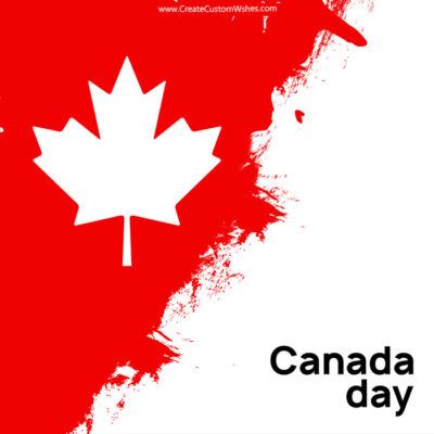 Editable Happy Canada Day Wishes eCard