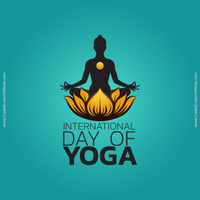 Editable Yoga Day Images and Card