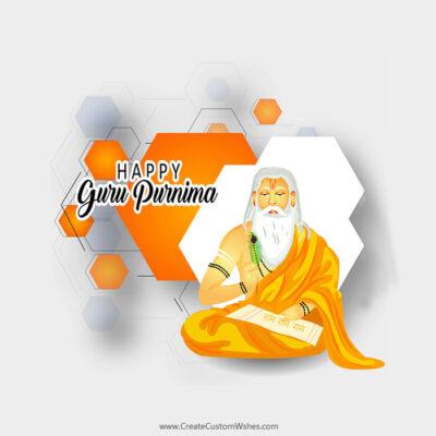 Personalize Guru Purnima Wishes Card