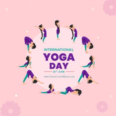 Surya Namaskar - Yoga Day Greeting Card