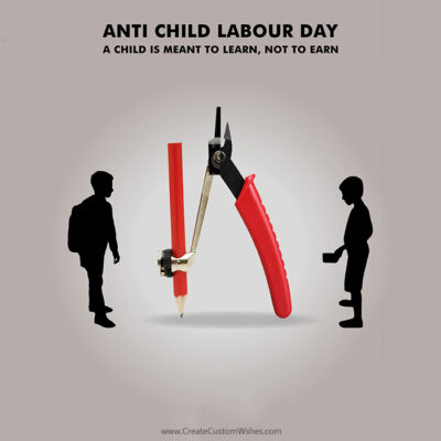 Add Name & Photo on Child Labour Day
