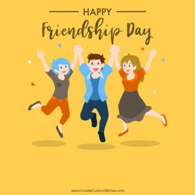 Add Name & Photo on Friendship Day Image