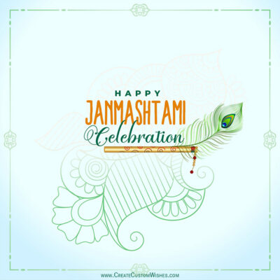 Add Name & Photo on Janmashtami Image