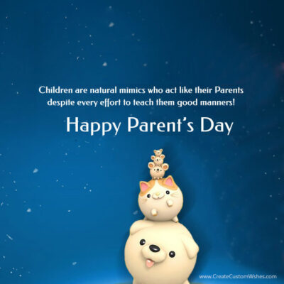 Add Name on Happy Parent's Day Image