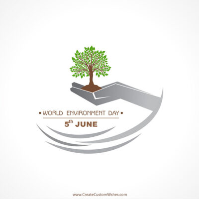 Add Name on World Environment Day Image