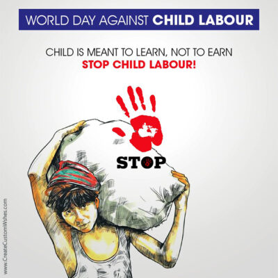 Custom World Day Against Child Labour Poster