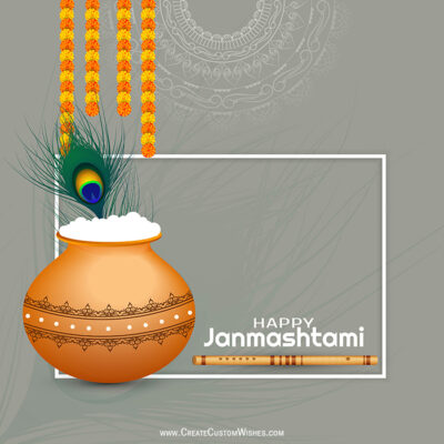 Customised Janmashtami Wishes Card