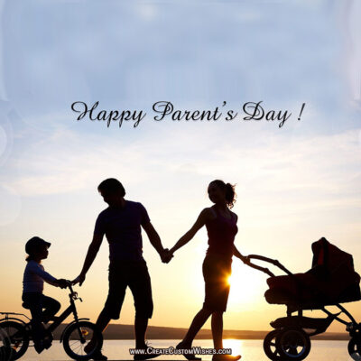 Editable Parent's Day Greeting Card