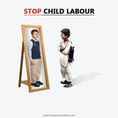 Editable World Day Against Child Labour Pic