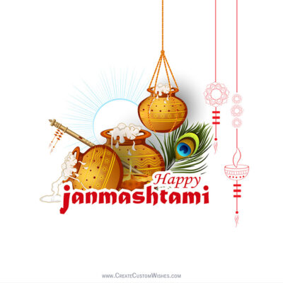 Free Customized Dahi Handi Wishes Image