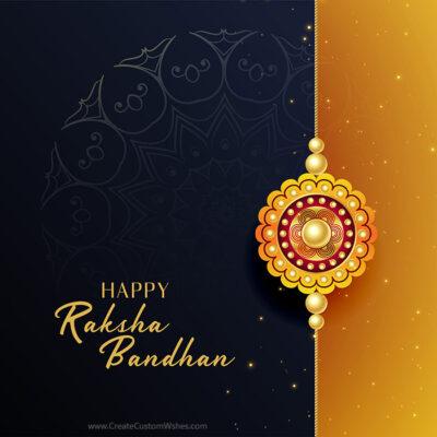 Free Editable Raksha Bandhan Wishes eCard