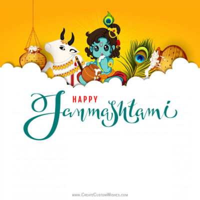 Greeting Card for Happy Janmashtami 2020
