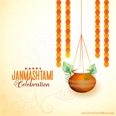 Happy Janmashtami 2020 Images with Name