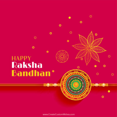 Happy Raksha Bandhan 2020 Image with Name