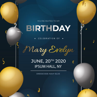 Free Customized Birthday Invitation Card