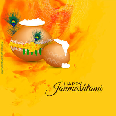 Make Custom Janmashtami Greeting Card