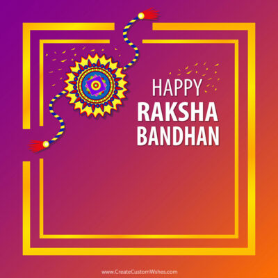 Make Online Raksha Bandhan Wishes Card