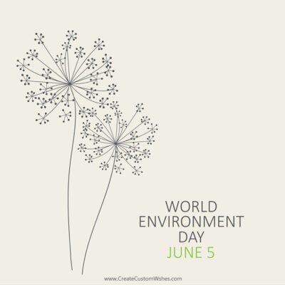 Online Editable World Environment Day Pic
