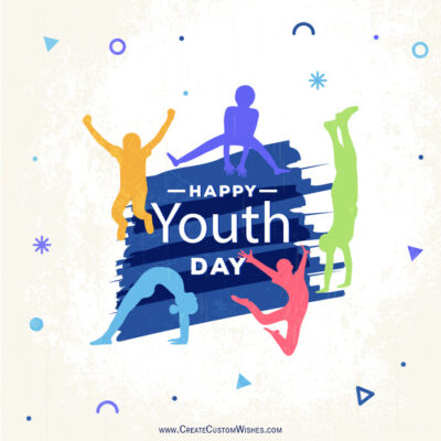 Customize Happy Youth Day Greeting Card